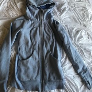 Lululemon Baby blue zip up